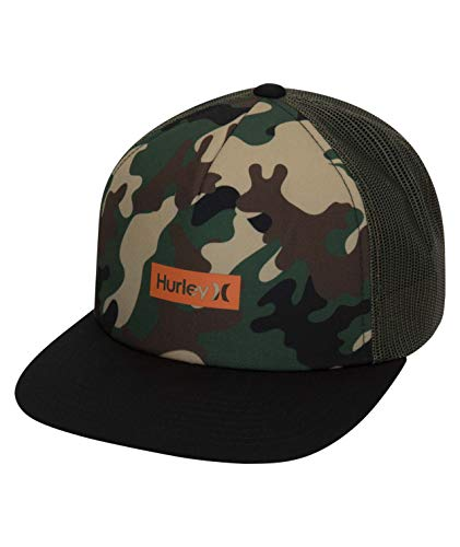 Hurley M Printed Square Trucker Gorra, Hombre, Spruce Fog, 1SIZE