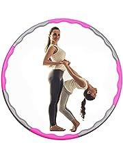 Hoola hoelahoepel voor kinderen, 8 segmenten, afneembare fitnessband, hoelacirkel, instelbaar gewicht, hoelahoep en in grootte verstelbaar, afneembaar sportspeelgoed, hoepel voor thuis, buiten, school, party, dansen