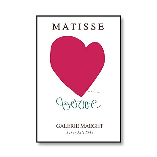 Henri Matisse pintura de lienzo abstracta cartel de exposición vintage beige cuadro de arte de pared sin marco pintura de lienzo D 70x100cm