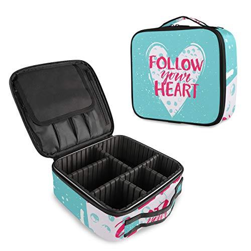 Follow Your Heart Love Trousse de Maquillage Professionnelle Bleu