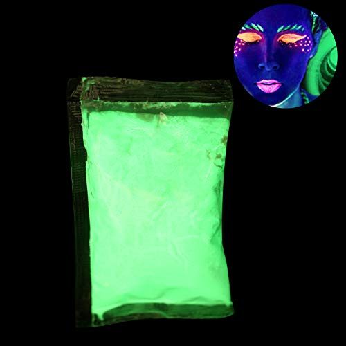 Poudre fluorescente, 3 couleurs Poudre fluorescente Peinture lumineuse en poudre DIY Pigment Nail Coating Noctilucent Powder (Vert jaunâtre)