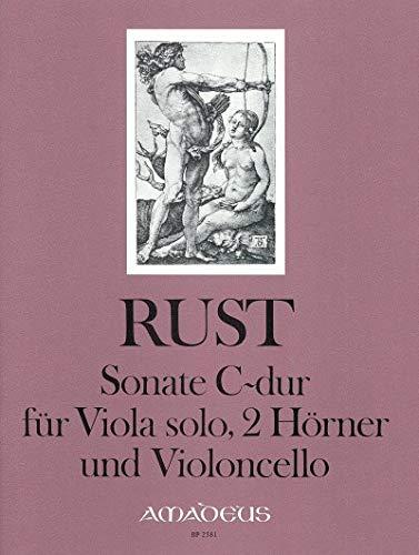 RUST F.W. - Sonata en Do Mayor para Viola, 2 Trompas y