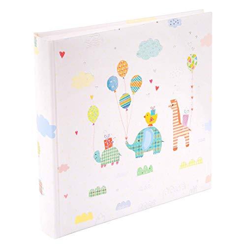 Baby-Tagebuch, Baby-Album, Photoalbum von Turnowsky - hochwertige und einmalige Designs (Tier-Parade mit Luftballons, Fotoalbum)