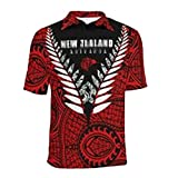 2021 Men's Rugby Jersey para Nueva Zelanda Black Saint Knight George Rugby Camiseta, Sudadera de Manga Corta clásica Polo Red 1-L