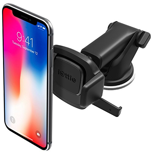 iOttie Easy One Touch MiniAutohalterung für Armaturenbrett und Windschutzscheibe für iPhone XS Max R 8 Plus 10 W für Samsung Galaxy S10 E S9 S8 Plus Edge, Hinweis 9