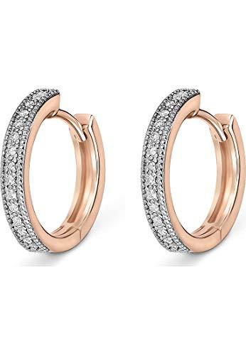 CHRIST Diamonds Damen-Creolen 585er Rosegold 30 Diamant One Size 87720781