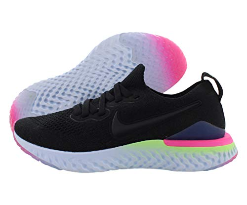 Nike Epic React Flyknit 2 Youth Kids Shoes Athletic Sneakers, Black, 4.5 Big Kid