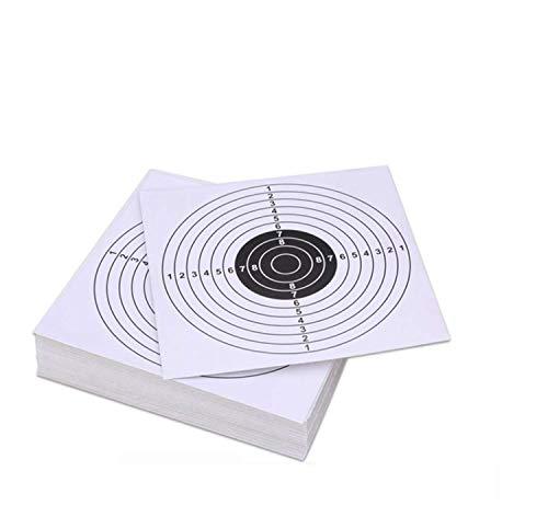 Pop Resin 100 Pack - Air Shot Paper Targets - 5.5 by 5.5 -...