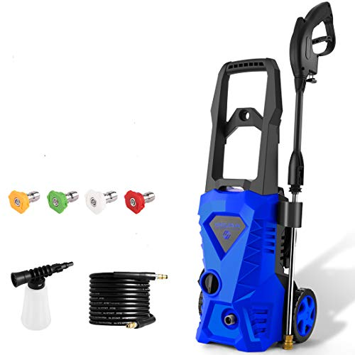 2.5 GPM PowRyte Electric Pressure Washer Spray Tips Multiple Degrees 1//4 Quick Connection Design Up to 4,000 PSI