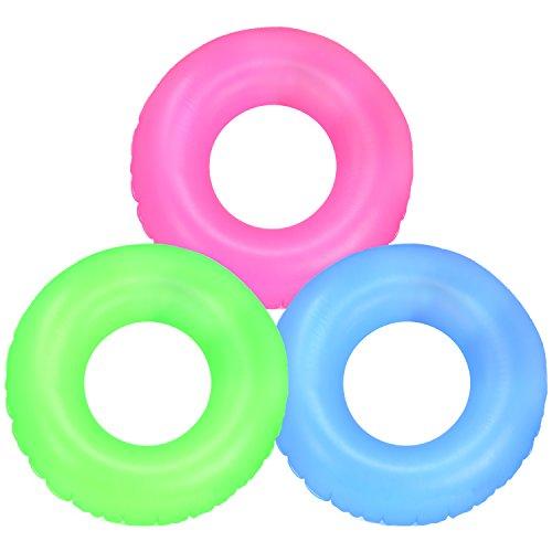com-four® 3X Schwimmreifen - Schwimmring für Badespaß - Kinderschwimmreifen [Auswahl variiert] (03 Stück - Ø 67cm einfarbig)