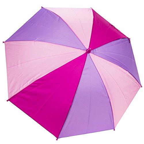 Dr. Neuser Bunter Kinder Regenschirm Umbrella Stockschirm Schirm Kinderschirm, Farbe:Rosa/Lila/Pink