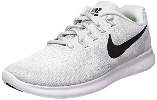 Nike Wmns Free RN 2017, Scarpe Running Bambina, Multicolore (White/Black/Pure Platinum 101), 35.5 EU