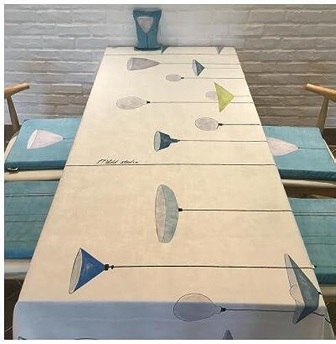 BlauLSS Velours Blau und Weißen Tischdecken Tischdecke Nordic einfache moderne Tischdecke, 1.140  140 cm
