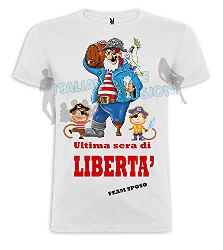 Camiseta con impresión personalizada para despedida de soltera, camiseta de la última noche de la Libertad blanco XL