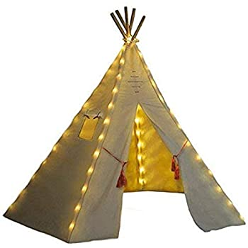 Nature s Blossom Fairy Lights for Kids Teepee Tents Battery Operated Set of 5 LED Strings Universal Design Fits Most Kids Indoor Tipi Playhouses Teepee Tent is Not Included with The Light Set.