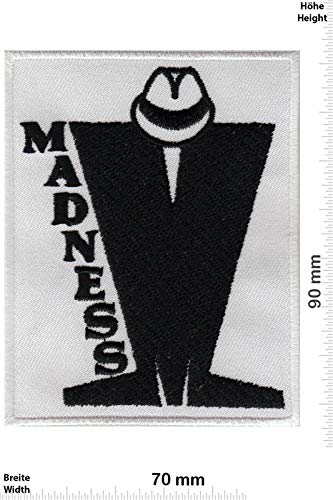Madnness Madness Ska Band Patch Badge Applique Geborduurd Ijzer op