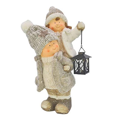 Colección XXXL de gnomos, 48 cm, niños de invierno, niños y niñas, figura de Navidad, figura de cerámica, figura de Navidad, figura decorativa de jardín