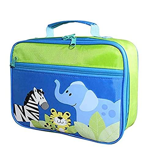 Bolso de almuerzo para niños, dibujos animados impermeables Impreso de la bolsa de refrigerador térmico ecológico Bolsa de la caja de la caja de oxford Paño aislado Bolsas de almuerzo reutilizables pa