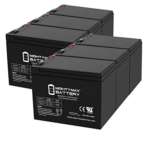 Mighty Max Battery 6V 7AH Compatible Battery for APC UPS Computer Back Up Power 4 Pack Brand Product