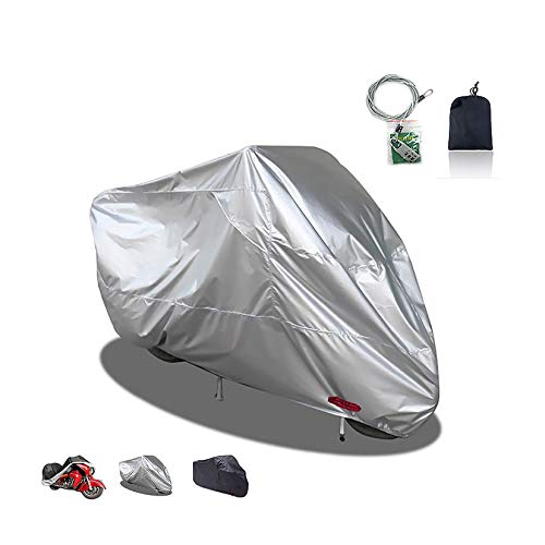 XJZHJXB Fundas para Motos Cubierta de la Motocicleta Compatible con Cubierta de la Motocicleta Honda NC 700S, 3 Colores 210D Oxford con Tapa de la Cerradura Exterior Motocicleta, Ajuste 200-295cm