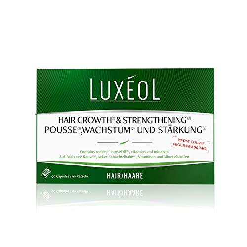 Luxéol Pousse (1), crecimiento (1) y fortalecimiento (2) 3 meses - Promueve el crecimiento del cabello (1) - Suplemento alimenticio - 90 cápsulas de 40 g