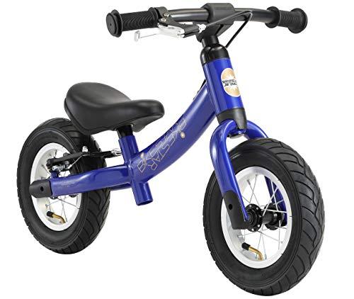 BIKESTAR 2-en-1 Vélo Draisienne Enfants pour Filles de 2 - 3 Ans | Vélo sans pédales évolutive 10 Pouces Sportif Croissante Cadre | Bleu