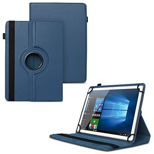 UC-Express Schutzhülle kompatibel für Odys Cosmo Win X9 Odys Winpad X9 Tablet Universal aus Kunstleder Hülle Tasche Standfunktion 360° Drehbar Cover Case, Farben:Blau