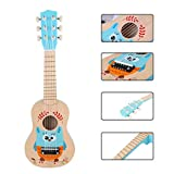 LOSGO 6 Saiten Kindergitarre Schöne Spielgitarre Süsse Erste Gitarre Klassische Gitarre Einstieg ab 3 Jahre - Käuzchen -
