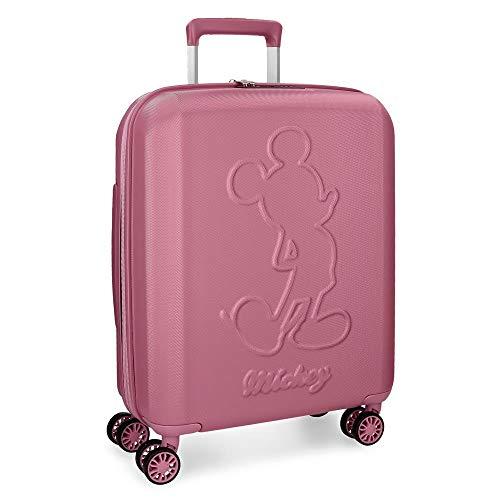 Maleta de cabina Mickey Premium rígida 55cm rosa