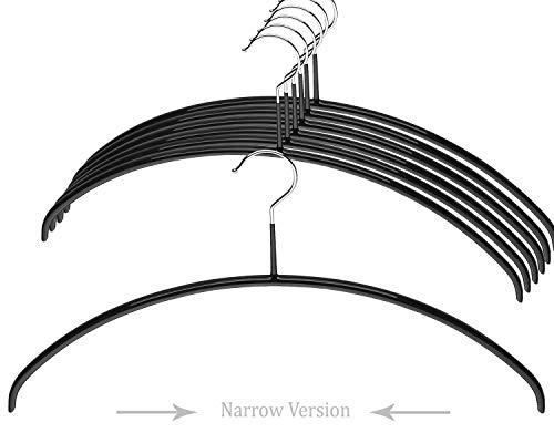 MAWA Kleiderbügel Stahl Narrow schwarz