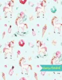 Unicorn Notebook: Cute Kawaii Journal and Diary Large 8.5 x 11 Matte Cover with Blank Lined Ruled White Paper Interior - Perfect for School, Gifts for ... Birthday, Activity Book for Arts and Crafts
