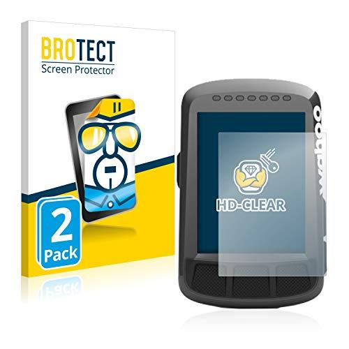 BROTECT Protector Pantalla Compatible con Wahoo Elemnt Bolt GPS Protector Transparente (2 Unidades) Anti-Huellas