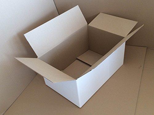 Karton weiß TOP Qualität 2-wellig 25 Stück 600x400x300mm
