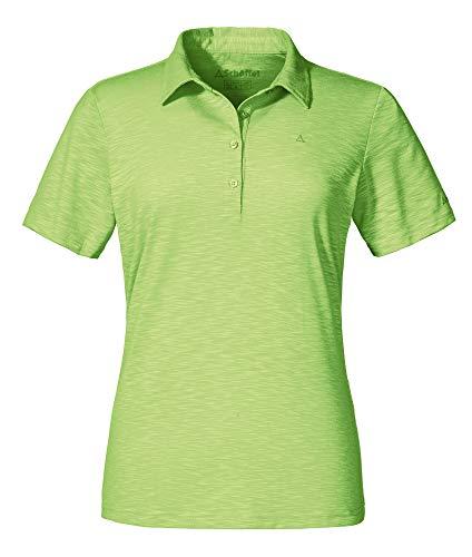 Schöffel Damen Capri1 Polo Shirt, sharp green, 38