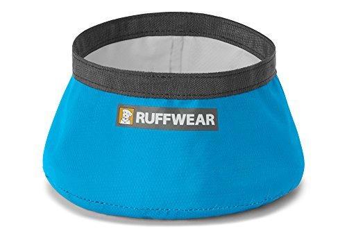 Ruffwear Ultraleichter, tragbarer Stoff-Hundenapf, Einheitsgröße, Fassungsvermögen: 1L, Blau (Blue Dusk), Trail Runner Bowl