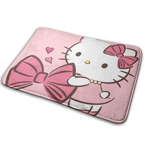 yunyang Cartoon Hello Kitty Pink Teppich Innen- und Außeneingang Teppiche Badezimmer Küche rutschfeste Matte Pad Schuhschaber
