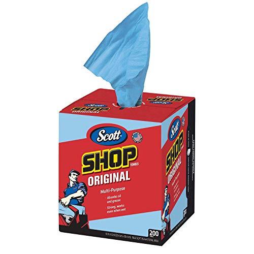 Scott® Blue Shop Towels in a Box - 200 Sheets