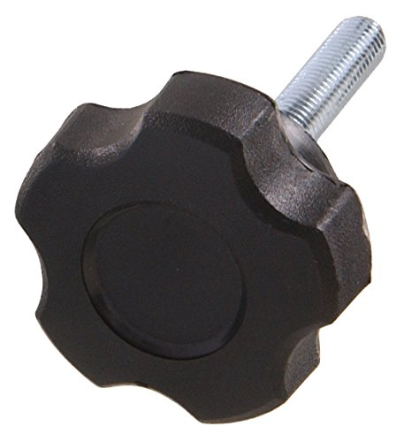 The Hillman Group 55452 Fluted Knob 1.72-Inch Male Thread, M6 X 50mm, 2-Pack