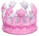 Brandsseller Krone Aufblasbar Verkleidung Kostüm Karneval Fasching Party Rosa