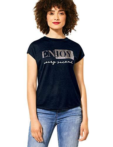 Street One Damen 315122 T-Shirt, deep Blue, 36