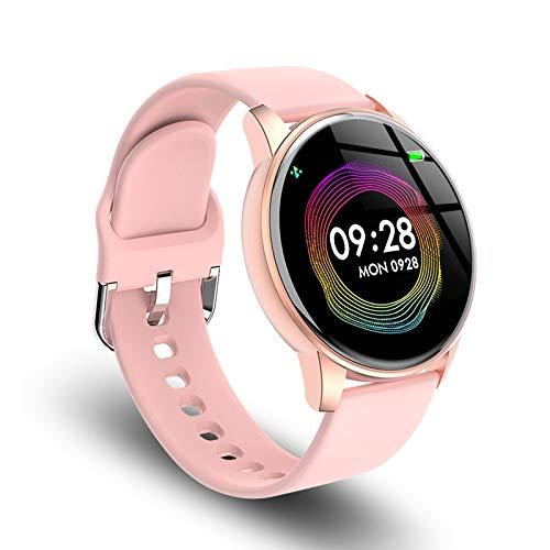 UIEMMY Smartwatch Digitaluhr Frauen Luxus Roségold Frauen Männer Sportuhren LED Elektronische Armbanduhr Wasserdicht, Pink