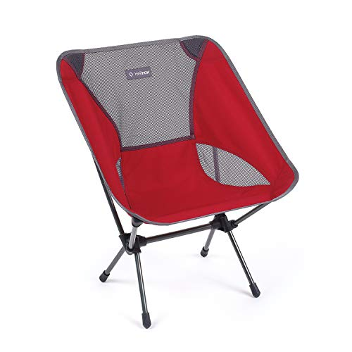 Helinox Chair One Original Lightweight, Compact, Collapsible Camping Chair, Scarlet/Iron