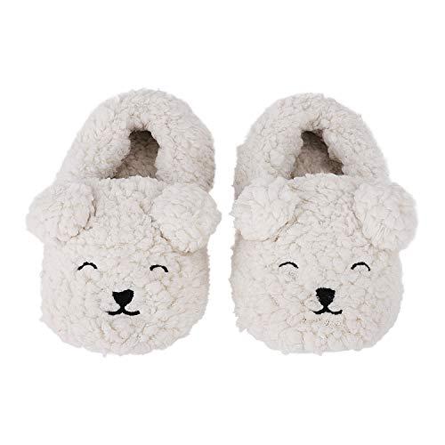 かわいい ルームシューズ 靴 スリッパ シューズ ベビー ベビーシューズ 赤ちゃん 女の子 男の子 あったか 保温 犬 ドッグ キュート ホワイト 防寒 出産祝い ギフト プレゼント ふわふわ もこもこ おしゃれ 人気 ファッション小物