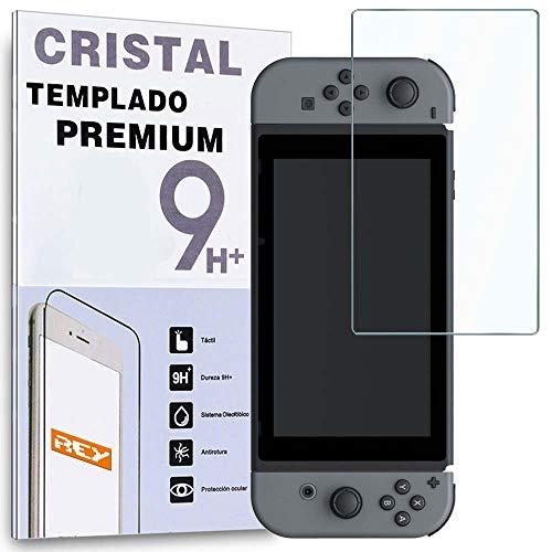 REY Protector de Pantalla para Nintendo Switch, Cristal Vidrio Templado Premium