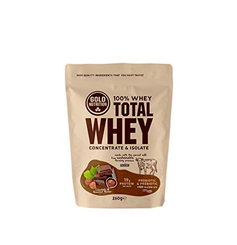 Gold Nutrition - Total Whey 260g Sabor Chocolate - Avellana
