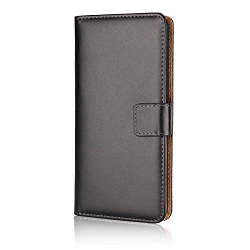 DENDICO Cover LG V30, Nero Libro Cover Pelle a Portafoglio per LG V30, Custodia Cover con Porta Carte, Funzione Stand