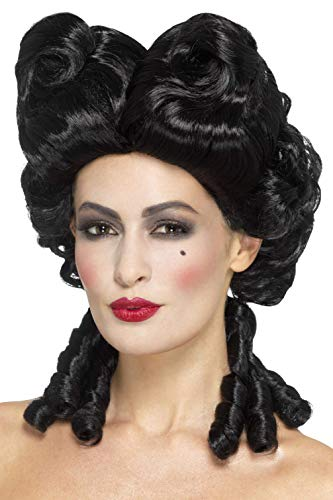 Smiffys Women's Gothic Baroque Wig, Black, One Size