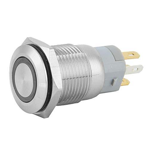 Eléctrico 40Pcs 12VDC 5 Pin Momentary Pulsador Interruptor de botón de reinicio...