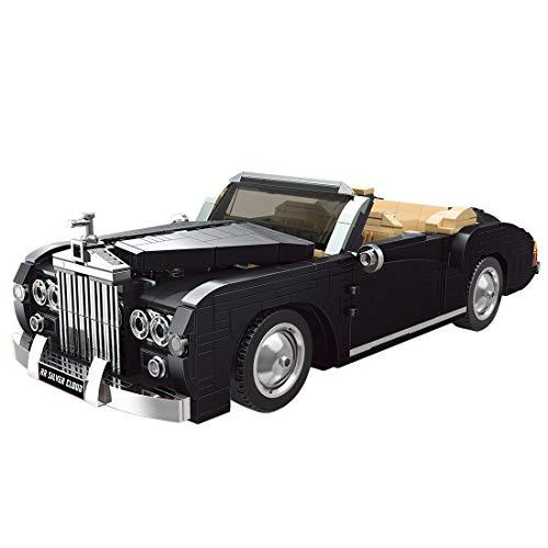 BGOOD Bloques de construcción de coche para 1964 RR Sliver Cloud, 1096 bloques de construcción técnica coche antiguo compatible con la técnica Lego