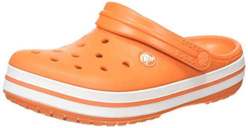 Crocs Crocband, Zuecos Unisex Adulto, Naranja Orange/White
